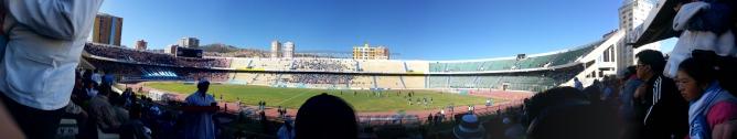 La Paz Football Stadium, the highest in the world