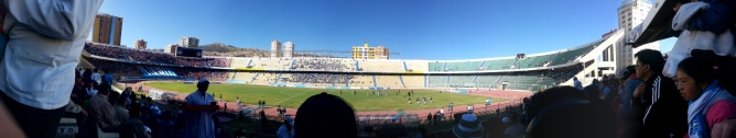 La Paz Football Stadium, the highest in the world