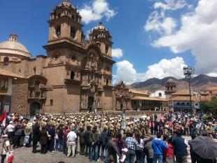 Military parade in Cuzco, Peru