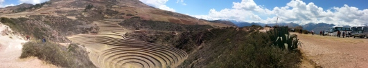 Ancient farming in Peru using micro climates to grove different types of crops