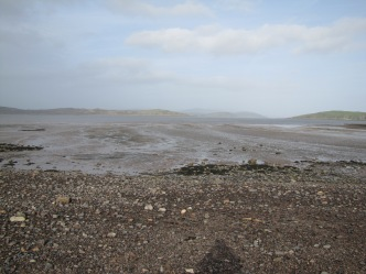 The view of the Solway from Auchencairn beach
